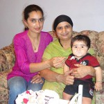 Parwinder with her mother Malkeeter Kaur and nephew Manraag
