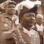 The cannibal king... Jean-Bedel Bokassa crowns himself Emperor of the Central African Republic, Bangui 1977. Photo - Ben Hills