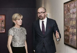 Foreign minister Julie Bishop and Henry Skerritt (Photograph courtesy of the Department of Foreign Affairs and Trade)