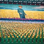 The hermit kingdom... reporting from a mass rally in Kim Jong-Il's North Korea, 1996. Photo - Ben Hills.