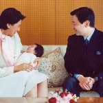 December 2001 -- Masako, now suffering from depression, and Naruhito welcome their IVF baby, Aiko, into the world, only to be told to try again because females cannot ascend to the throne in Japan. Photo courtesy Imperial Household Agency.